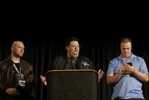 John, Phil, and Patrick accept an ENnie award in 2010.